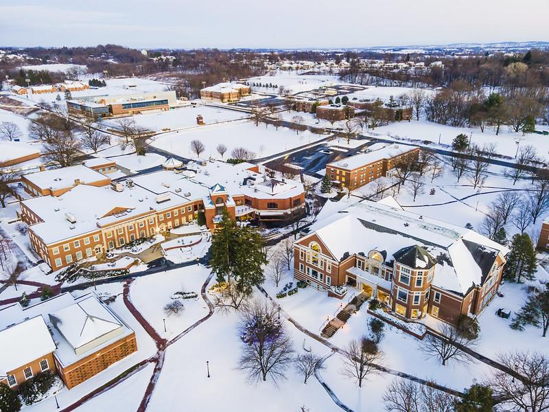 snow shot of campus