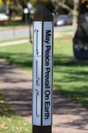 peace pole which states may peace prevail on earth in several languages