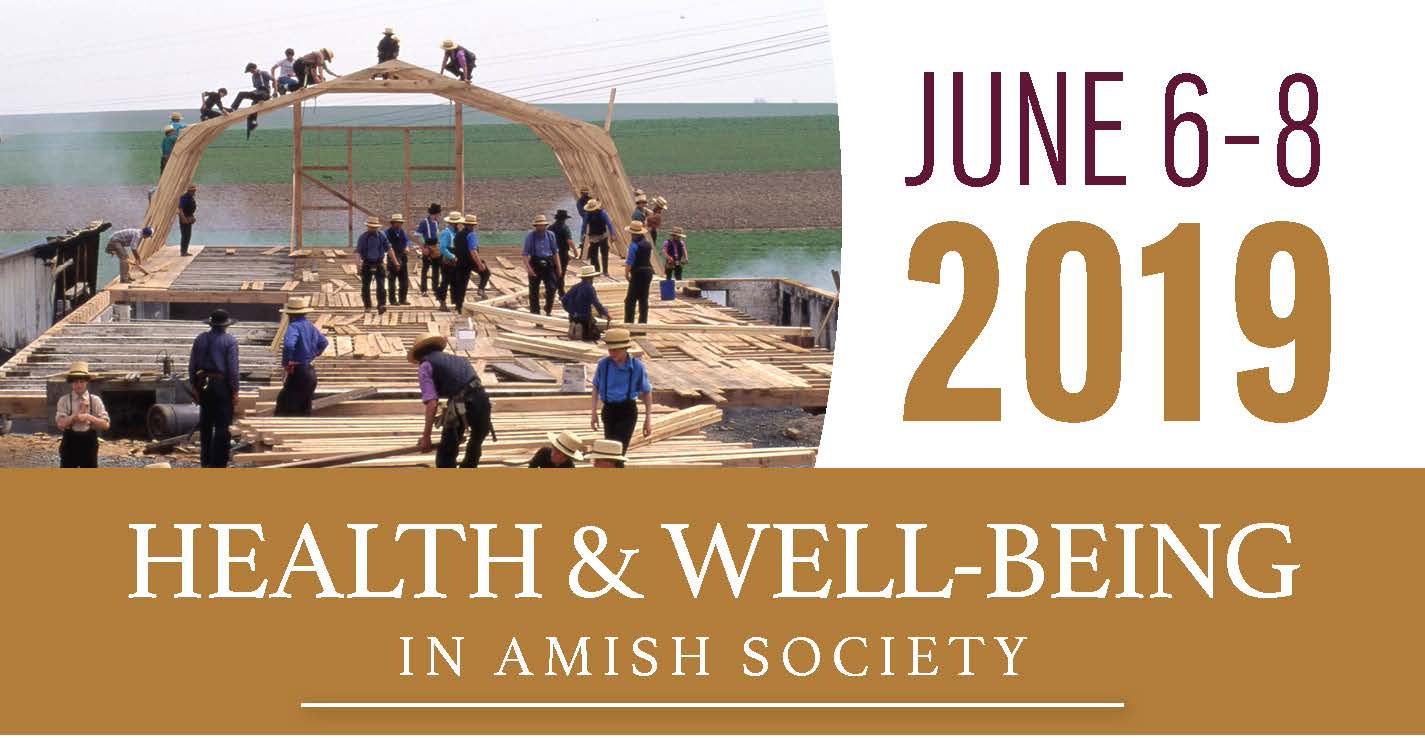 conference title, date, and barn-raising photo