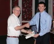 Cameron Gettel received 20ll O. F. Stambaugh award from Dr. Charles D. Schaeffer, Jr.