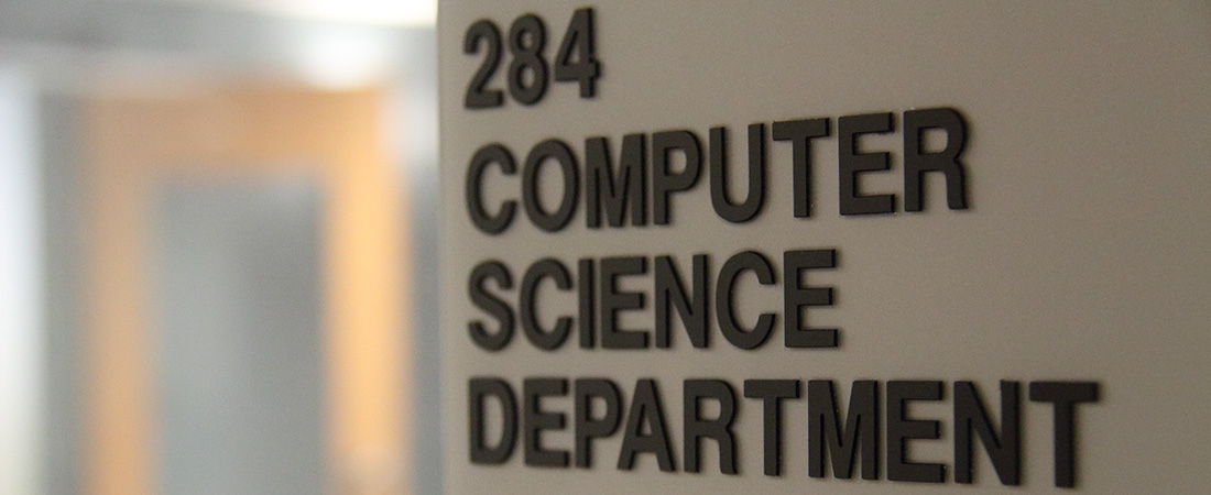 Computer Science Department sign