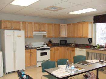 physical rehabilitiation lab with kitchen appliances