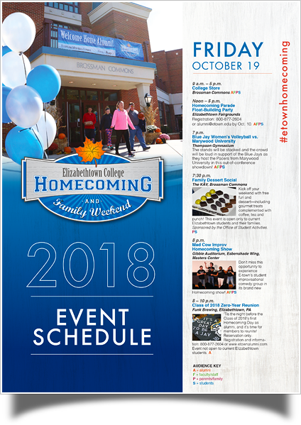 HCFW 2018 schedule of events - click to download