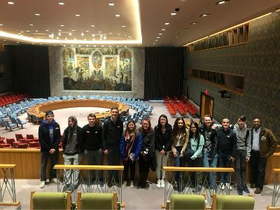 Tour of the UN in New York City