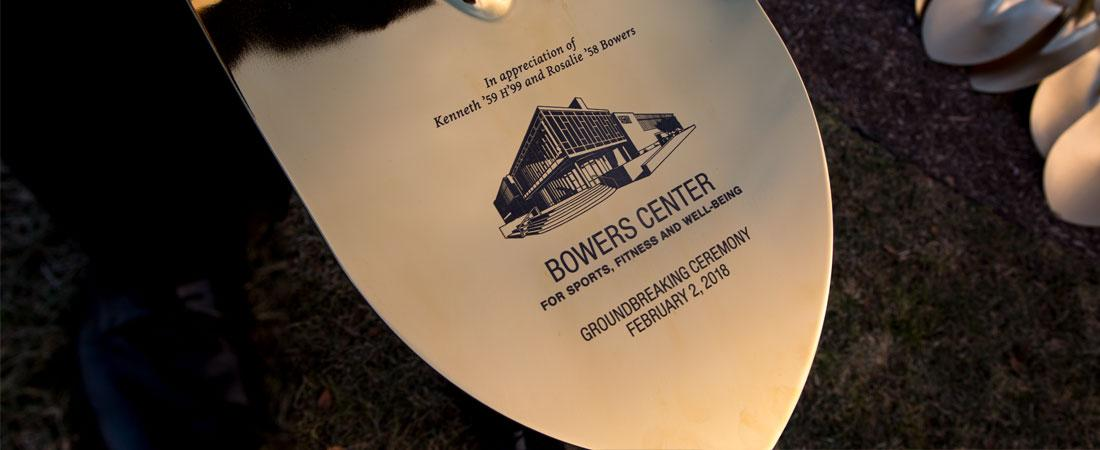 Bowers Center for Sports, Fitness and Well-Being Groundbreaking