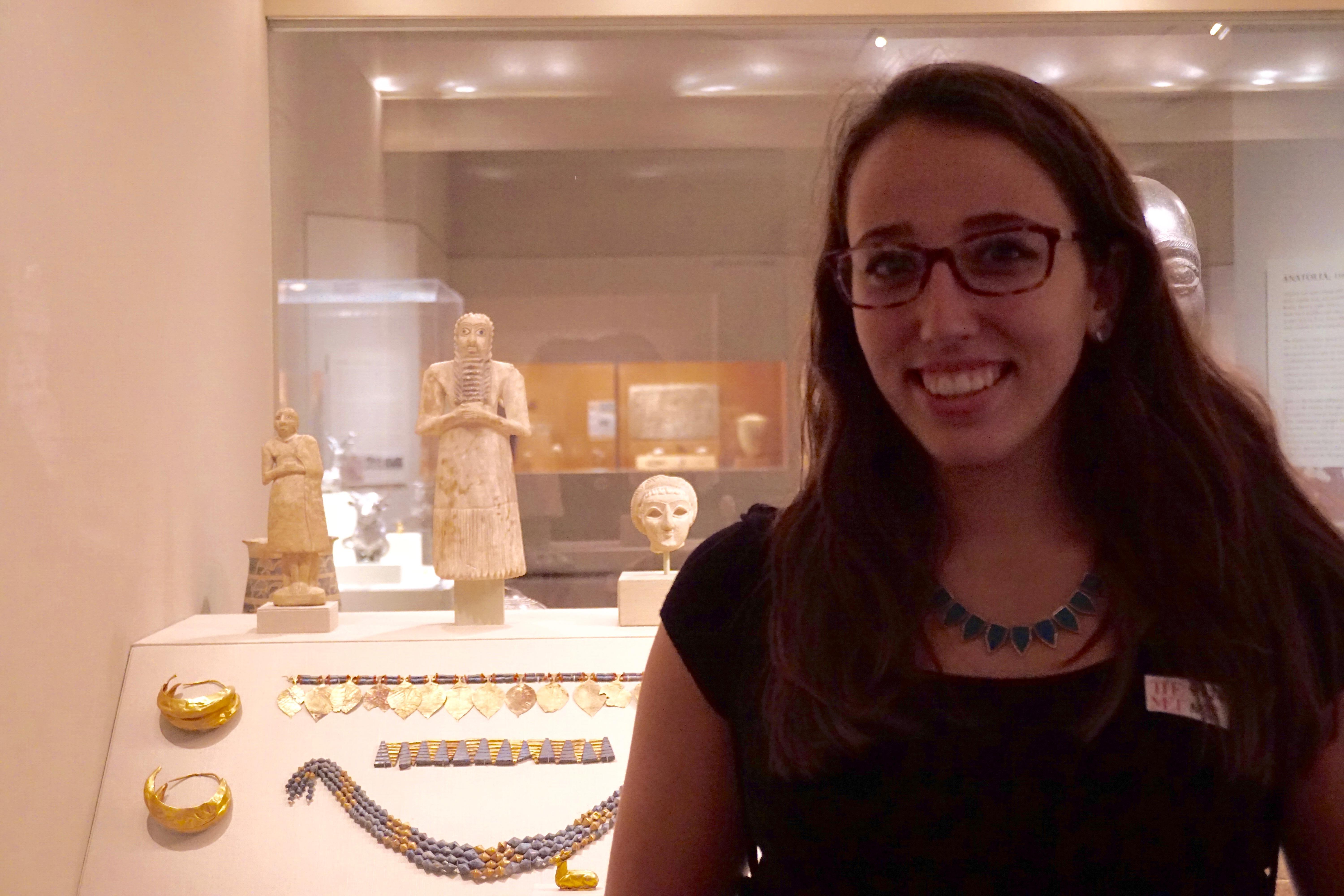 Jenna Hansell with Sumerian Votive