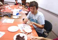 Students Making Mooncakes
