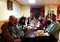Students Eating At A Chinese Restaruent