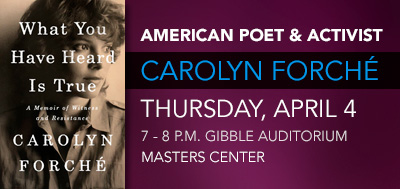 An Evening with Carolyn Forche