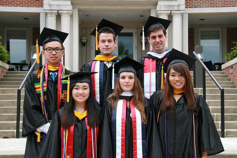 international students at graduation