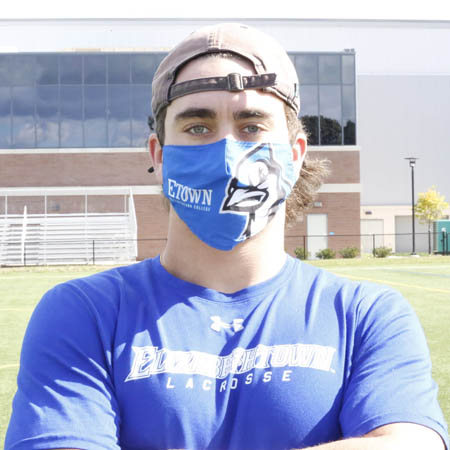 Student with a mask