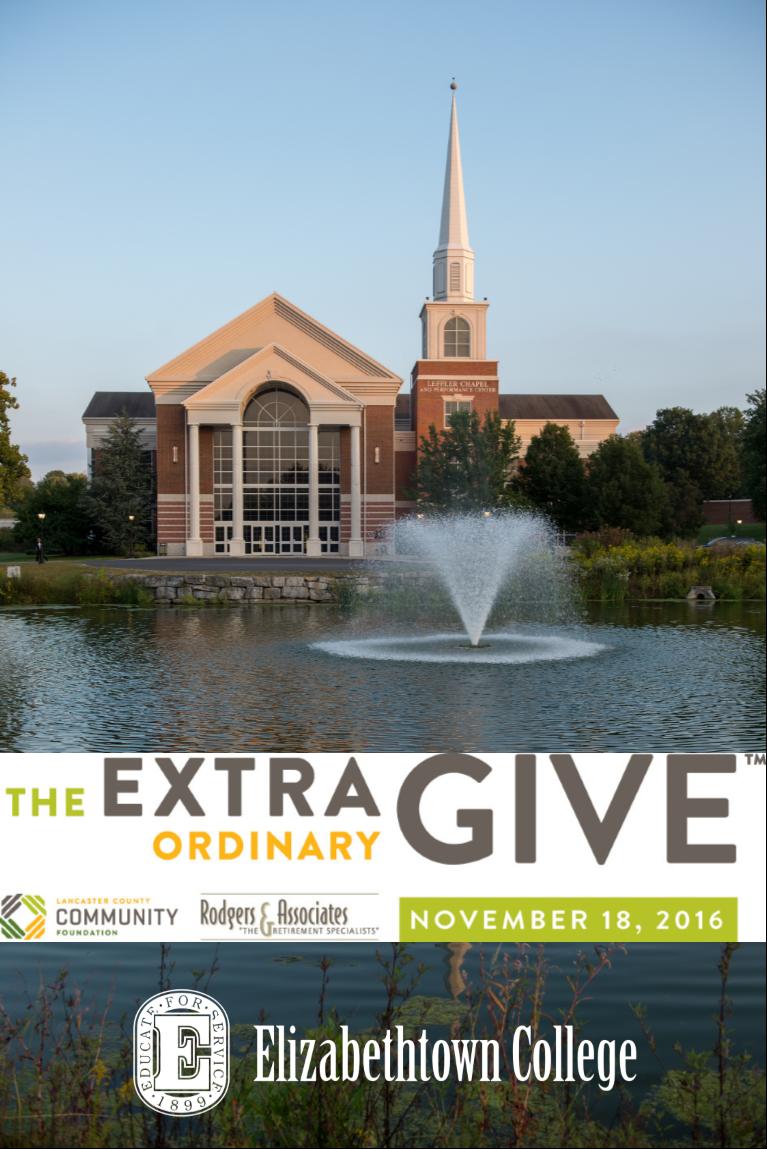 Extraordinary Give Elizabethtown College