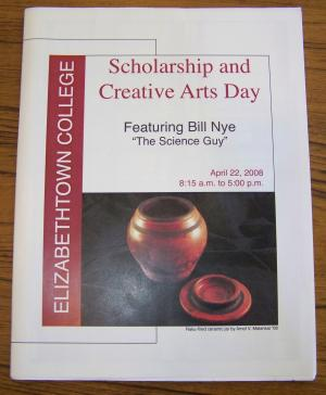 sample of a booklet for e-town scholarship day