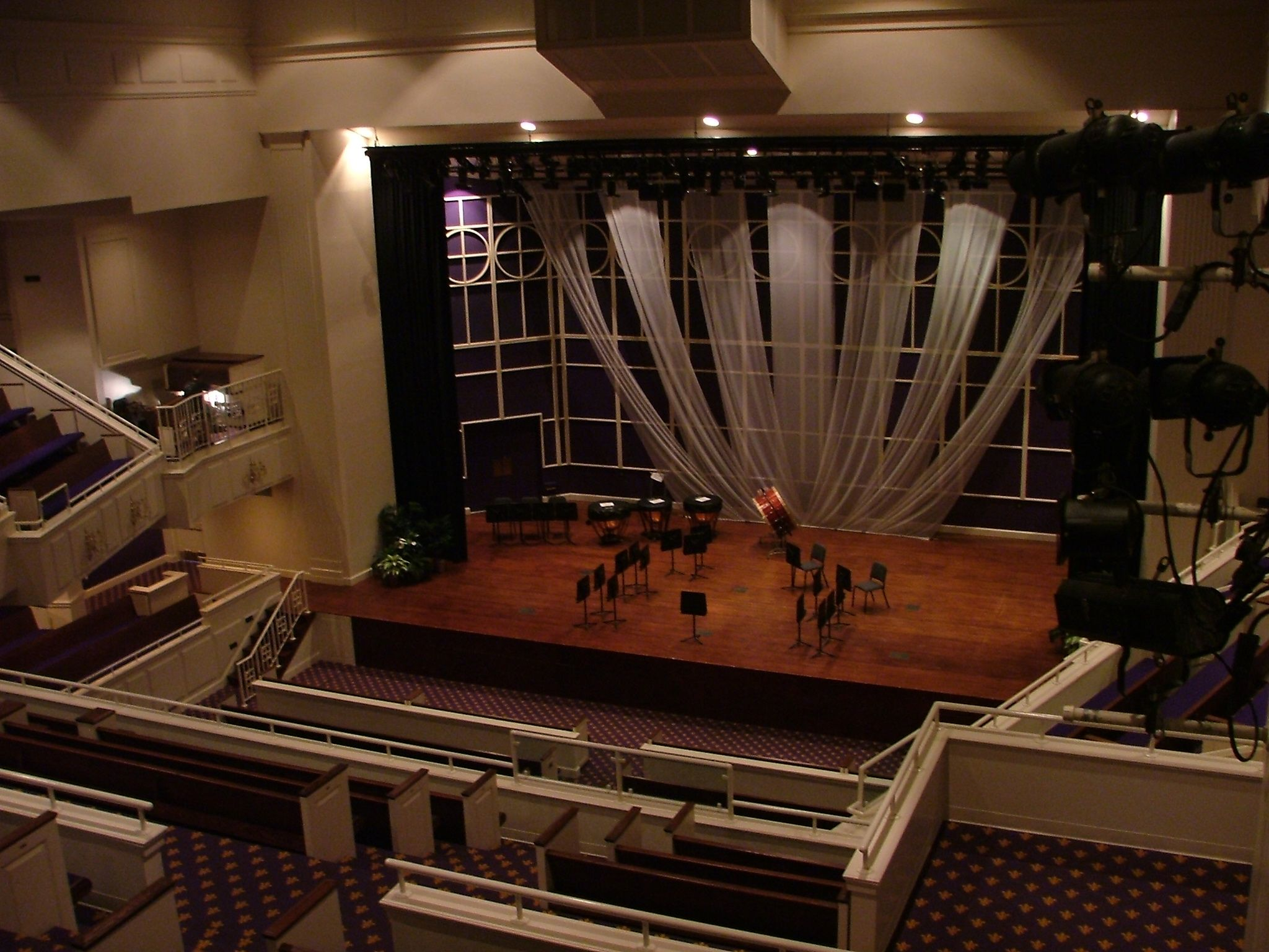 Musser Auditorium from Balcony
