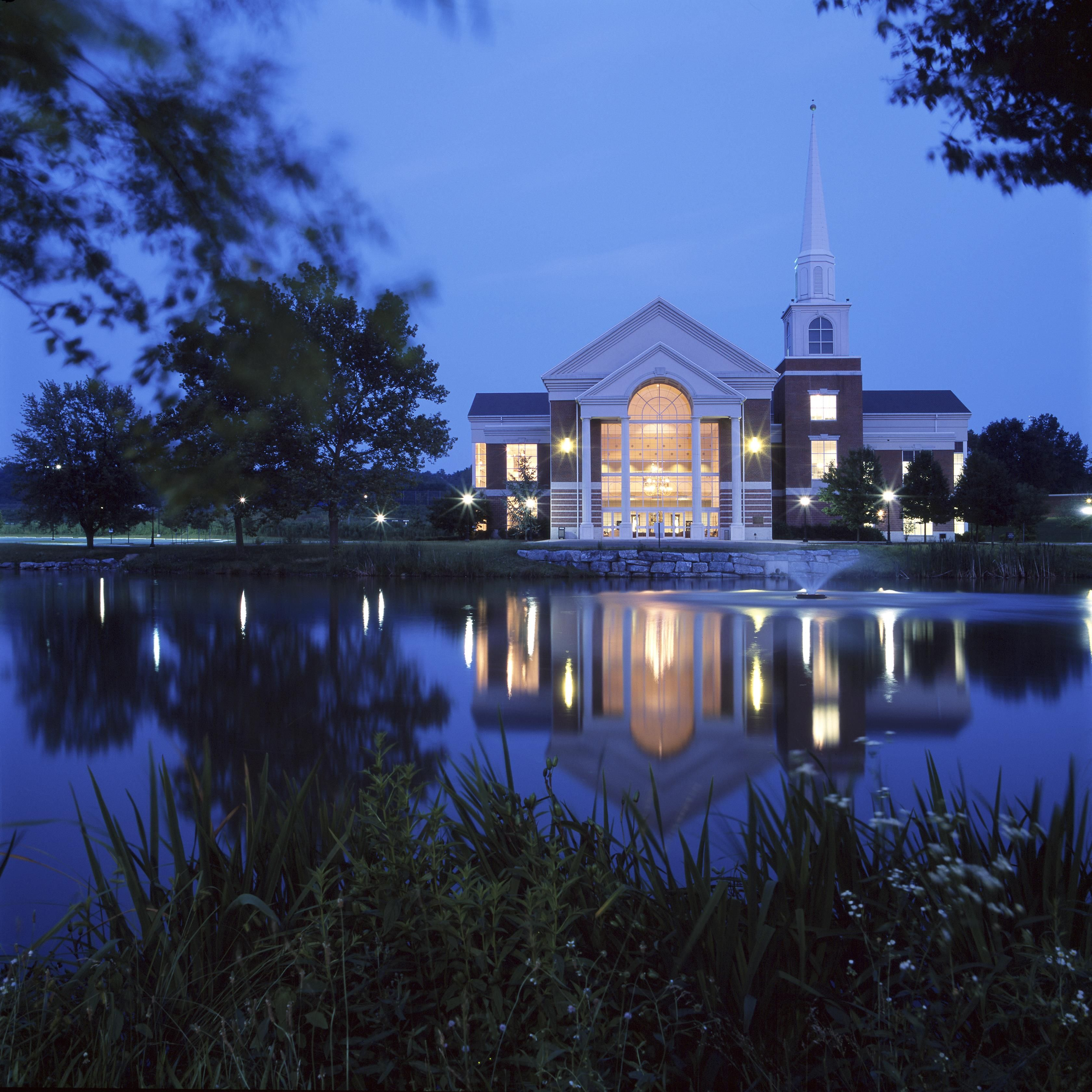 Leffler Chapel at Night