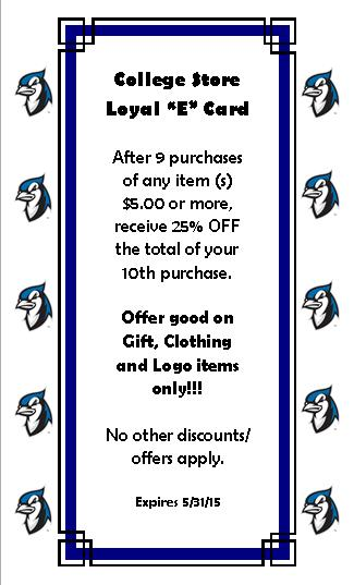 Blue Jay Loyalty Card