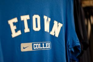 etown blue jays shirt with nike swoop over college