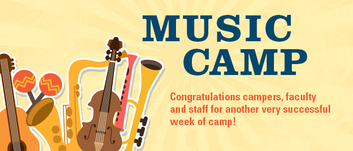 Summer Music Camp - Congratulations