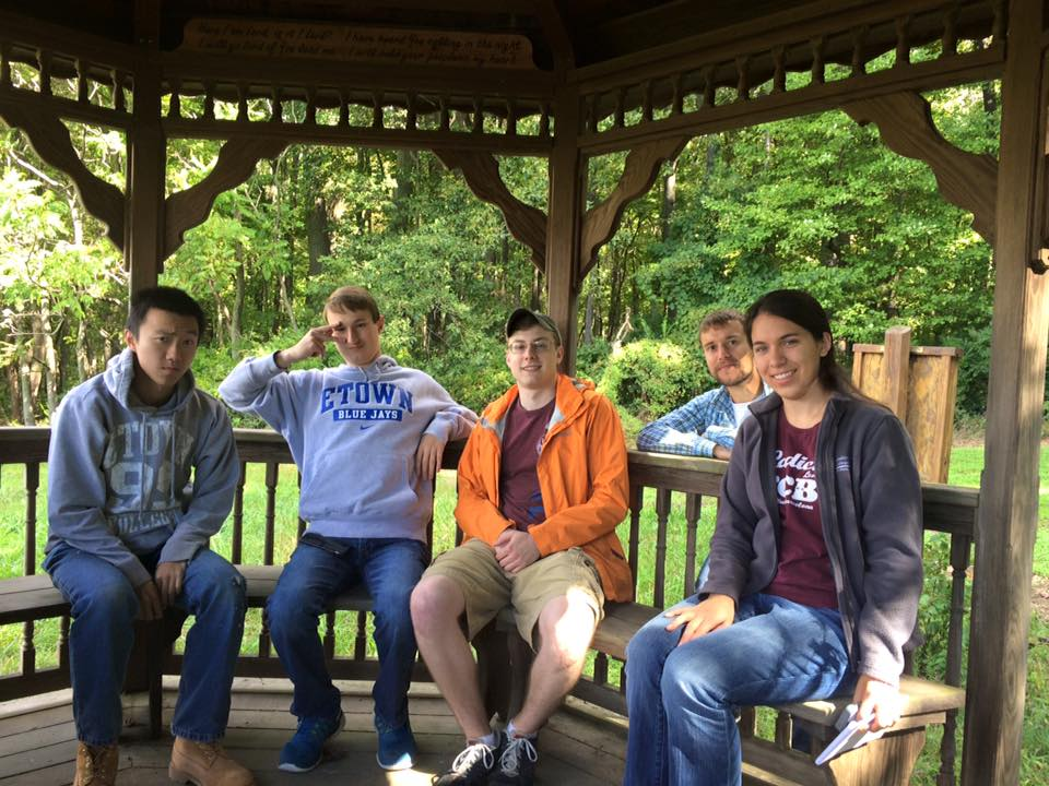 Group in gazebo