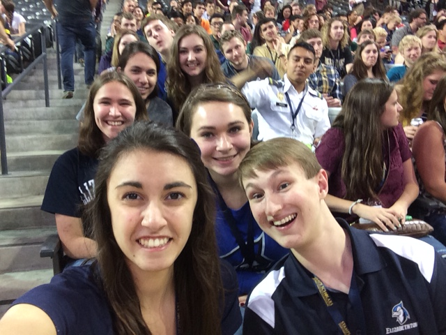 Group selfie at convention
